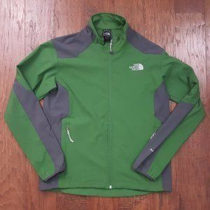 THE NORTH FACE Green Gray Full Zip Apex Jacket M